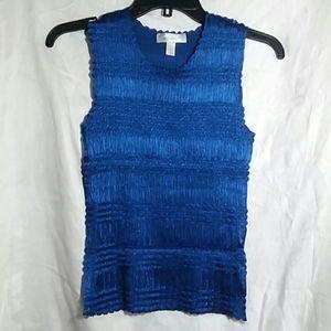 Dressbarn Blue Pullover Stretch Tank Top